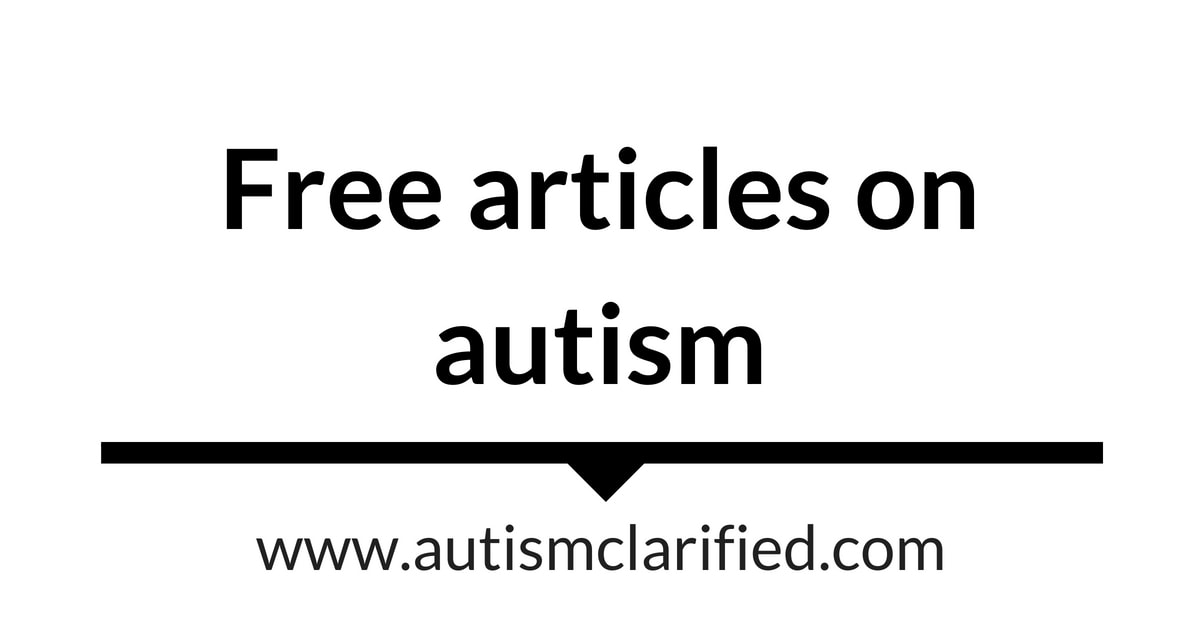 Articles Database   Autism Clarified